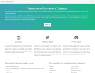convenientcalendar.com screenshot