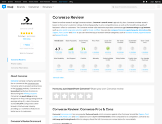 converse.knoji.com screenshot