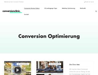 conversionclinic.com screenshot