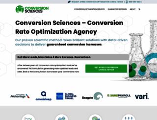 conversionsciences.com screenshot