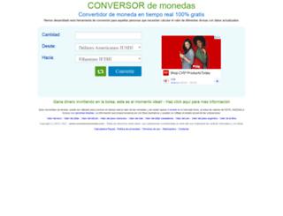 conversormonedas.com screenshot