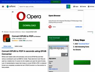 convert-epub-to-pdf.en.softonic.com screenshot