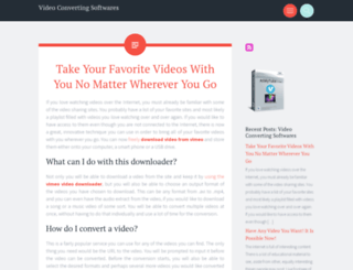convertingvideo.wordpress.com screenshot