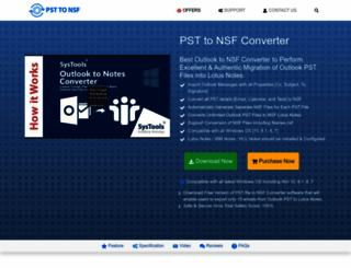 convertpsttonsf.com screenshot
