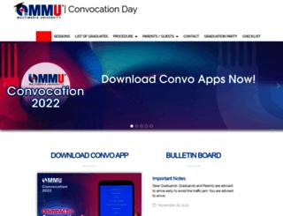 convocation.mmu.edu.my screenshot