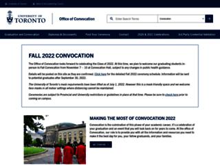 convocation.utoronto.ca screenshot