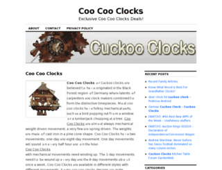 coocooclocks.org screenshot