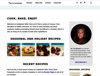 cookaholicwife.com screenshot