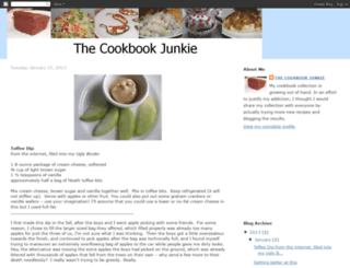 cookbookjunkie.blogspot.com screenshot