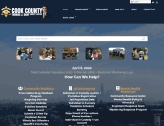 cookcountysheriff.org screenshot