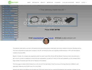 cooker-parts.co.uk screenshot