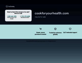 cookforyourhealth.com screenshot