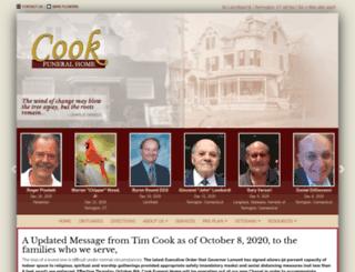 cookfuneralhomect.com screenshot