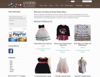 cookiesandcream.com.au screenshot