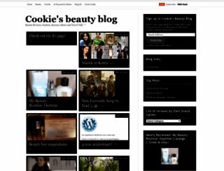 cookiesbeautyblog.wordpress.com screenshot