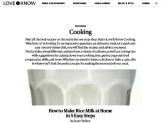 cooking.lovetoknow.com screenshot