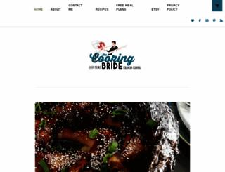 cookingbride.wordpress.com screenshot