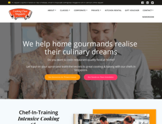 cookingclass-singapore.com screenshot