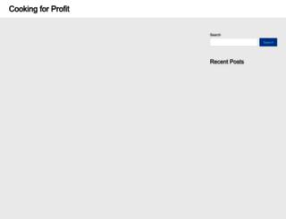 cookingforprofit.com screenshot