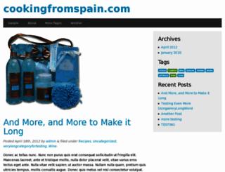 cookingfromspain.com screenshot