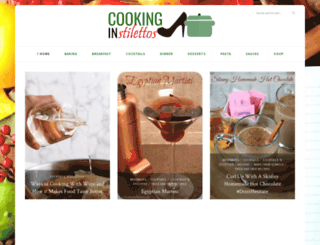 cookinginstilettos.com screenshot