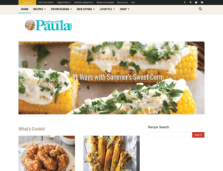 cookingwithpauladeen.com screenshot