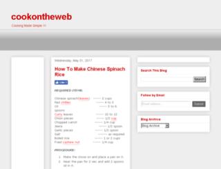 cookontheweb.com screenshot