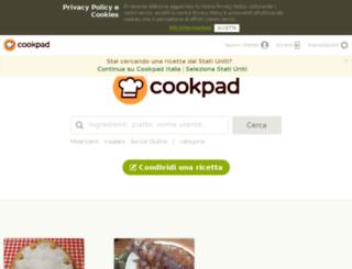cookpad.it screenshot