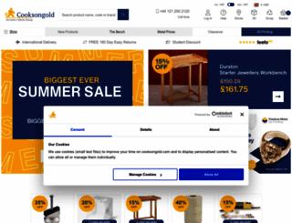 cooksongold.com screenshot