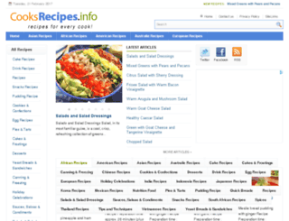 cooksrecipes.info screenshot