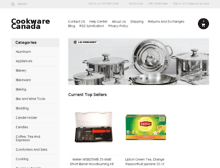 cookwarecanada.ca screenshot