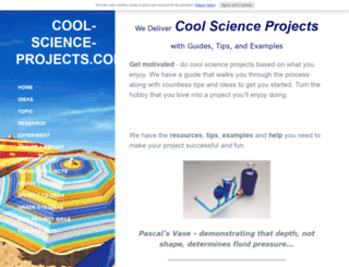 cool-science-projects.com screenshot