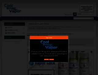 coolbreezevapors.com screenshot
