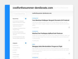 coolforthesummer-demilovato.com screenshot