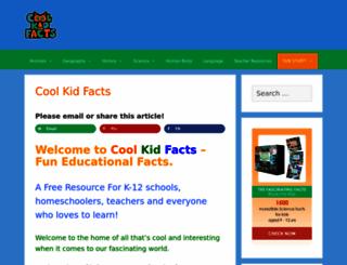 coolkidfacts.com screenshot