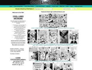 coollinesartwork.com screenshot