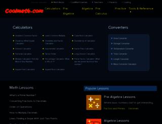 coolmaths.com screenshot