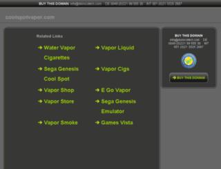 coolspotvapor.com screenshot