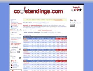 coolstandings.com screenshot