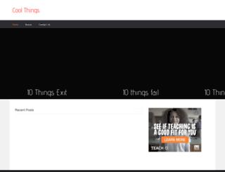 cooltenthings.com screenshot
