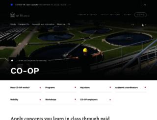 coop.uottawa.ca screenshot
