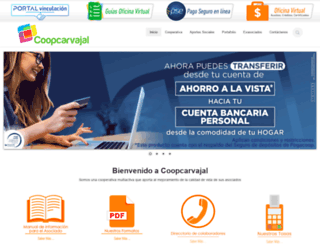 coopcarvajal.com screenshot