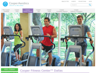 cooperfitnesscenter.com screenshot