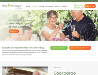 coorparoovillage.com.au screenshot