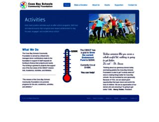 coosbayschoolsfoundation.org screenshot