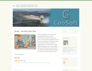 coosoft.wordpress.com screenshot