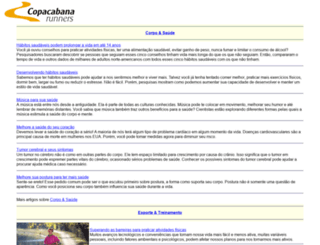 copacabanarunners.net screenshot