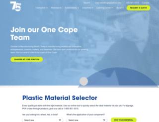 copeplastics.com screenshot