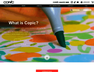 copicmarker.com screenshot