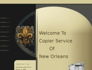 copierserviceofneworleans.net screenshot